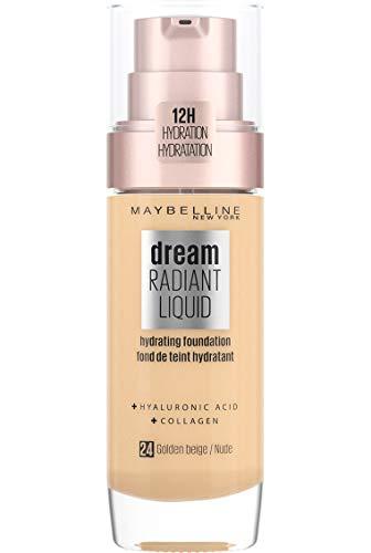Maybelline New York Dream Radiant Liquid - Base de Maquillaje Líquida con Sérum Hidratante, Tono 024 Golden Beige