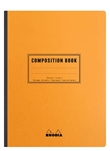 Rhodia Classic Composition Book, B5, Lined, 80 Sheets - Orang