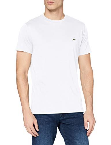 Lacoste TH6709 T-Shirt, Bianco (Blanc), Medium (Taglia Produttore: 4) Uomo