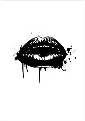 CloudShang Pestañas Negro Labios Mujeres Poster Sencillez Perfume Libros Poster Moda Pared Arte Impresiones Moderno Salón Belleza Chica Habitación Decoracion De la Lona Arte Vogue Pintura F23148