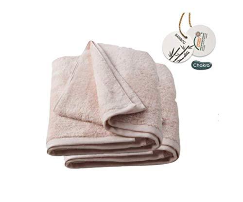 Chakra Turkish Large Bath Towels 33'x60' Bamboo Cotton Blend Luxury Set of 2 Bath Sheets, White, Ultra Soft, Shrink Resistant Oversized Hotel-Spa Bath Linens (Pink)