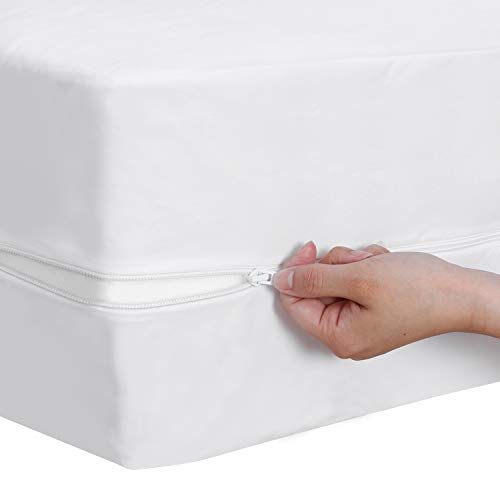 Zippered Waterproof Mattress Protector Full, 6-Side...