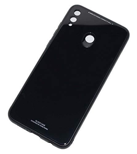 Kepuch Quartz Case Capas TPU &Voltar (Vidro Temperado) para Huawei Honor 8X Max - Preto
