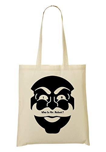 RaMedia 10 Who Is Mr Robot Mask Art Cyber Hacker Elliot Tv Tragetasche Einkaufstasche