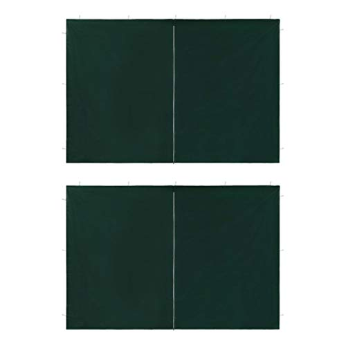UnfadeMemory 2uds Puertas de Carpa de Jardín,Accesorio para Carpa (Tipo1,295x195cm, Verde)