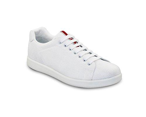 Prada Herren Sneaker, Netzgewebe, Sneaker, Weiß, 4E2988