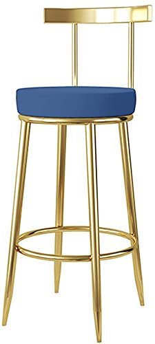 FMOGE Nordic Minimalist Style,Barstools Barstool Modern Creative Pub Height Chair Velvet Seat Breakfast Dining Stools for Kitchen Home Gold Legs (45/65/75cm) (1 Pieces)