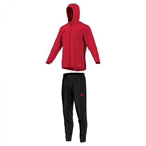 adidas Volwassenen trainingspak Con16 Pre Suit, Scarlet/Black, XS, S93518