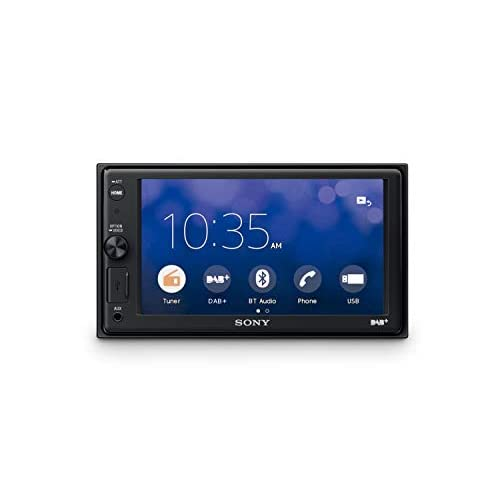 "Sony XAV-AX1005DB - SintoMonitor 2DIN, Ricezione DAB/DAB+, Display da 6.4"", Apple CarPlay, Controllo Vocale, Bluetooth, Microfono Esterno Incluso, 4x55W, USB iPhone/iPod"