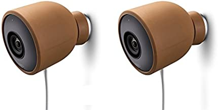 Colorful Silicone Skins for Nest Cam Outdoor Security Camera – Protect and Camouflage The Nest Cam Outdoor with These UV Light- and Weather Resistant Silicone Skins (2 Pack, Brown)
