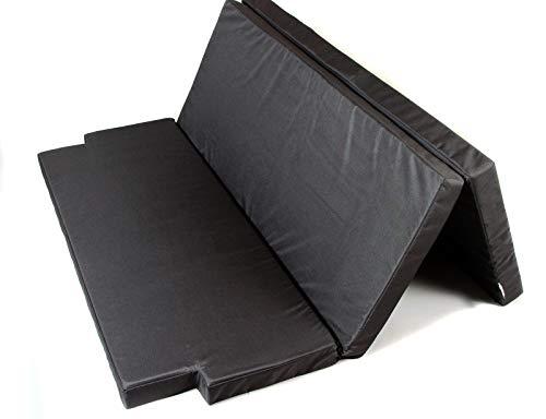 Mayaadi Home Schlafauflage Multiflexboard geeignet für VW T5 und T6 Faltmatratze Matratzenauflage 185x148x8cm MH-SAVWM Schwarz