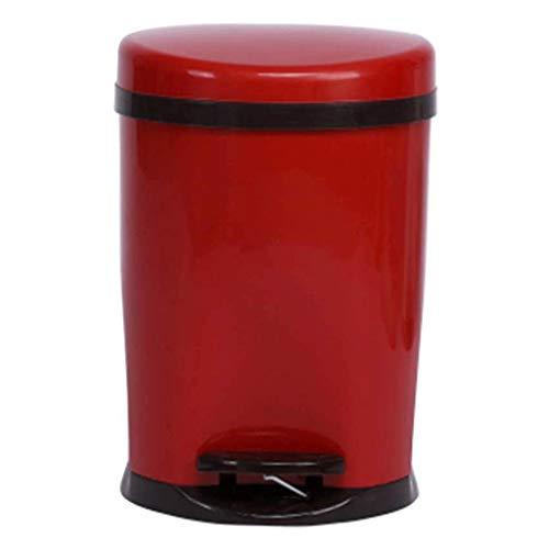 SMEJS Schritt Mülleimer, Schritt Abfalleimer, New York-Art-Rundbehälter mit Kunststoff-Inneneimer for Badezimmer Küche und Büro (Color : D)