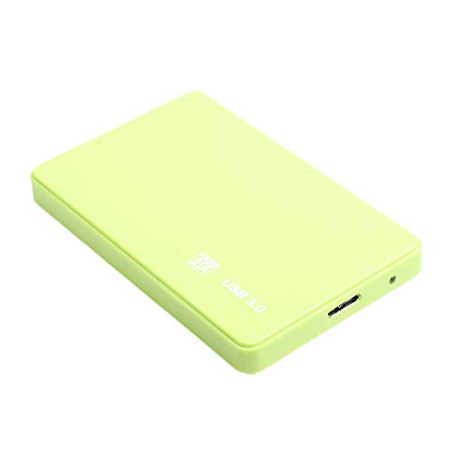 Almencla Disco Duro Externo Portátil - 2.5'' USB 3.0 Memoria Externa para Windows para Linux y Laptop - Verde 2T