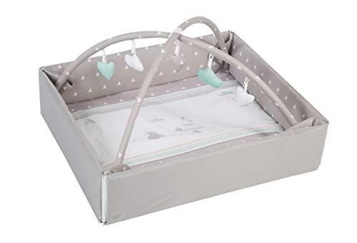 roba Baby Nest 4in1 'Indibär', sichere Wickelauflage mit Absturzsicherung, Kuschelnest, Spiel- & Krabbeldecke, Activity Center mit Spielbogen & Spielelementen & Laufgittereinlage