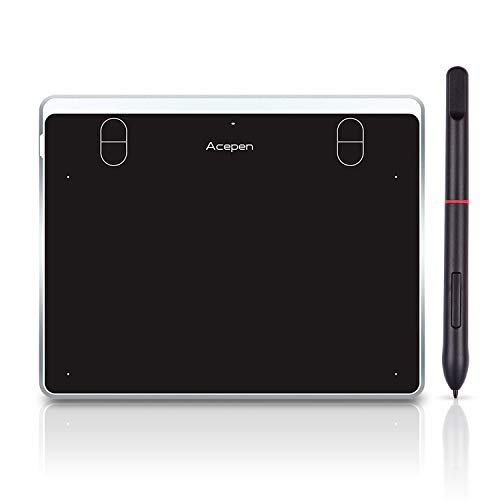 Aibecy Tableta de dibujo gráfico digital de 6 x 4 pulgadas, kit de tablero de dibujo con 4 teclas de acceso directo lápiz óptico pasivo sin batería 8192 niveles de presión para la enseñanza del dibujo