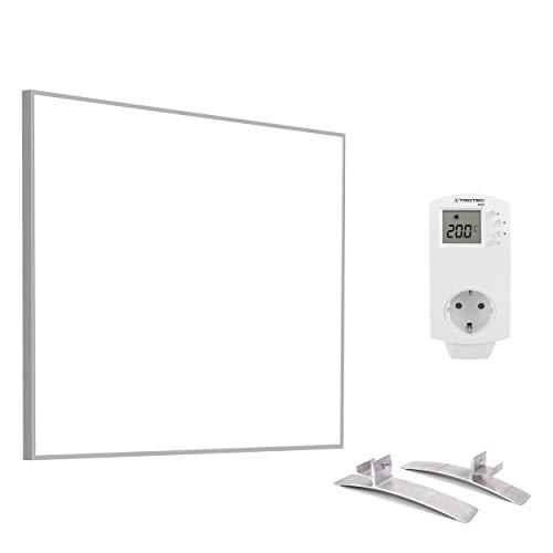 TROTEC TIH 400 S Infrarot-Heizplatte Infrarotheizung Heizpaneel 450 Watt inkl. Steckdosen-Thermostat BN30 und Standfüße