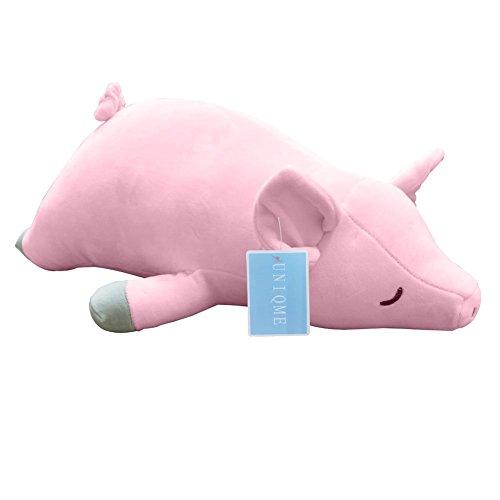 UNIBINGO 19.6' Pig Plush Doll 3D Animal Stuffed Piggy Throw Pillow Funny Bed Nursery Decoration Play Toy Baby Girl Cuddle Pillow Girlfriend
