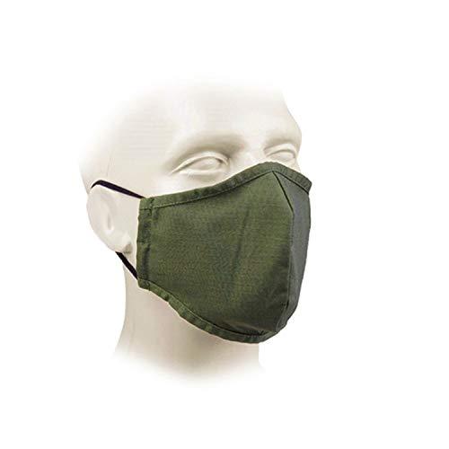 Copytec Army Maske für Mund-Nase Oliv Bundeswehr grün Abdeckung Gesicht BDU Stoff S35228