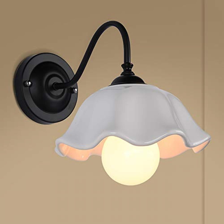 MackeJacke Amerikanische Wandleuchte Schlafzimmer Nachttischlampe Nordic Einfache Moderne Kreative Land Schmiedeeisen Lampen 26  22 cm Gro Schwarz