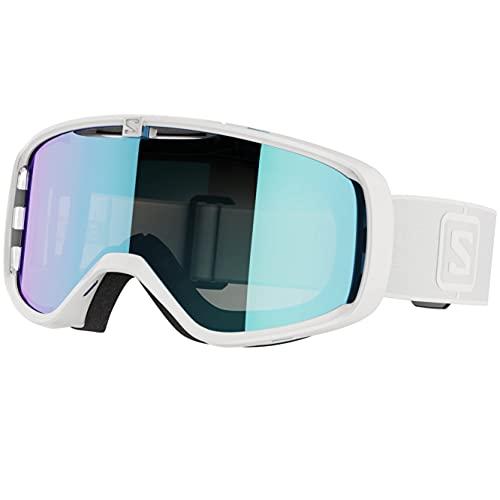 SALOMON Unisex-Adult Aksium Skibrillen, Weiß/Universal Mid Blue, Einheitsgröße