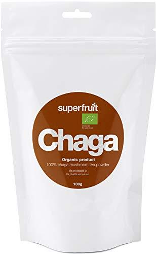 Superfruit Chaga-Pulver aus Finnland Thiamin-B1-Quelle 100% Natürlich Biologisch Vegan, 100g
