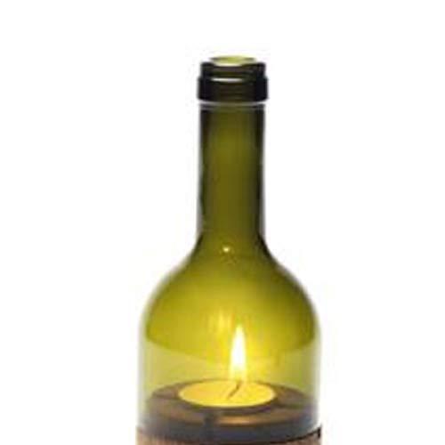 Side by Side Ersatzglas für Weinlicht Windlicht grün 40058V