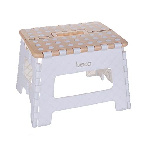 bisoo Sgabello Pedana per Bambini per Adattatore WC Riduttore WC - Sgabello Pieghevole - Sedile per la Toilette o Il Bagno - Carino - Fino a 100Kg (Miele/L'Altezza 22 cm)