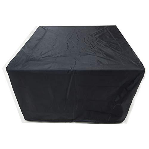 XXYANZI Funda Sofa Exterior Impermeable 220x220x85cm, Rectangular Funda Muebles Exterior Impermeable a Prueba de Viento, para Conjunto Mesa Exterior Terraza. - Negro