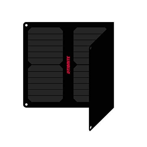 Litionite Arun 20W - 14V/5V Panel Solar portátil y Plegable con tecnologia ETFE/SUNPOWER - Regulador de Voltaje automático - 1x DC 1x USB - Cargador para Batería de Coche/Power Bank/Smartphone/PC