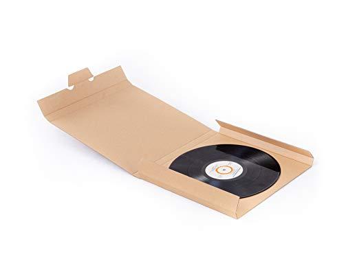 """150 scatole in cartone rigido per spedire dischi in vinile (capienza 7 dischi 12"""")"""