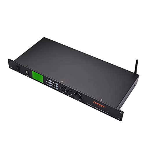 Muslady Procesador de Audio Digital Lannge K-1800 con Micrófono De 3,5 mm/Tarjeta de Sonido USB/Entrada de Audio Bt Y Salida Xlr / 3,5 mm para Karaoke Doméstico KTV