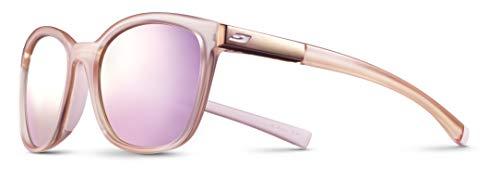 Julbo Spark Performance Sunglasses, Pink/Light Pink Frame - Spectron Smoke Lens w/Multilayer Pink Mirror
