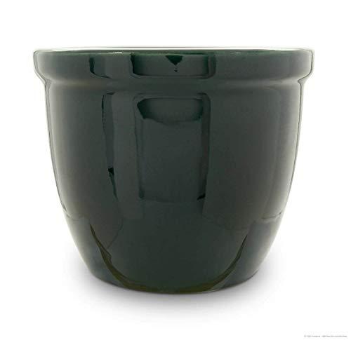 K&K Venus II Pot de fleurs en céramique Vert brillant 28 x 20 cm