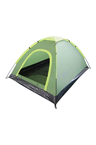 Mountain Warehouse Festival Fun 2 Man Tent - Groundsheet Camping Tent, Water Resistant Outdoor Tent, Easy Pitch, Breathable Sleeping Tent - For Hiking, Summer Festivals Green