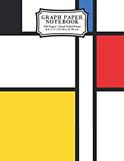 Graph Paper Notebook: Neoplasticism Abstract Art Squared Graphing Paper (Student Life Notebooks)