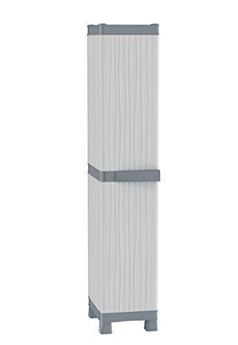 Terry - Armario resina plástico exterior, 35 x 43.8 x 181.8 cm