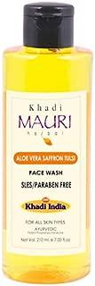 Khadi Mauri Herbal Aloe Vera Saffron Tulsi Face Wash - SLES & PARABEN FREE - 210 ml