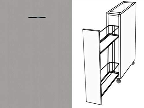 Premium-Ambiente AAAAA143 Unterschrank Apothekerschrank Vollauszug Softclosing FE (Breite 30cm, 05 Aluminium)