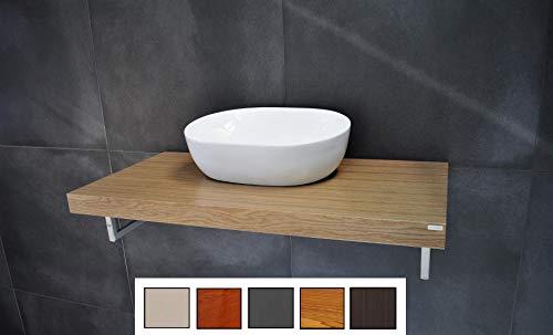 Carl Svensson Edler Waschtisch Waschtischplatte Waschkonsole WT-80 + WT-80H (MN-80H Eiche Natur)