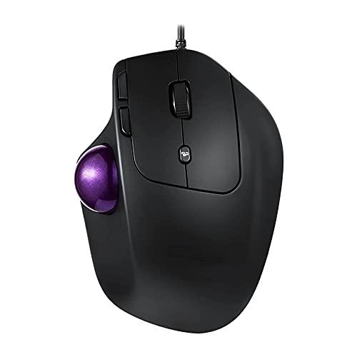Atsti Wireless Mouse – High-Precision Sensor, Speed-Adaptive Scroll Wheel, Angle Adjustable Wireless Ergonomic Trackball Mouse - for PC/Mac- Black
