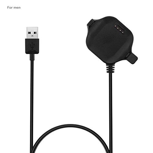 AWADUO Garmin Forerunner 25(Herren) Ersatz USB Lade Dock Kabel, USB Ladekabel für Garmin Forerunner 25 GPS Laufuhr, Für Herren