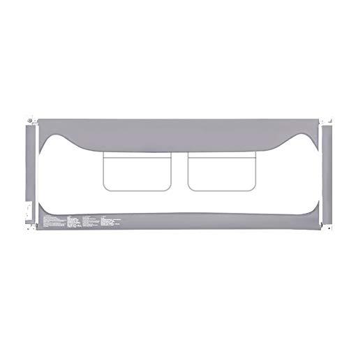 Barrières de lit LHA Garde-Corps de lit Pliant portatif adapté aux Enfants 120, 150, 180, 200 * 90 - Gris (Taille : L-120cm)
