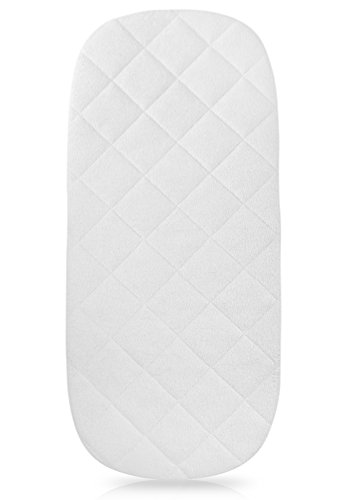 "iLuvBamboo Waterproof Bamboo Bassinet Mattress Pad COVER to Fit The By Your Side Sleeper -29.5"" x 13.5"" - Secure Envelope Design - Silky Soft - Waterproof - Best for Machine Wash and Dryer Friendly"