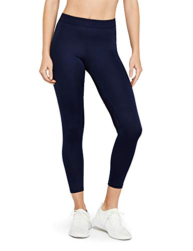 Marca Amazon - AURIQUE Leggings Deporte Petite Mujer, Azul (Navy), 40, Label:M