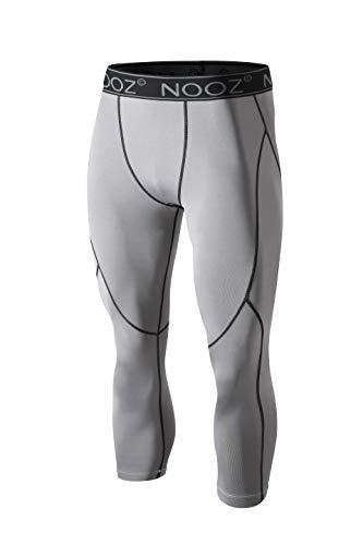 Nooz Herren Quick Dry Powerflex Kompressions-Unterhose Leggings für Männer - Grau - XXX-Large
