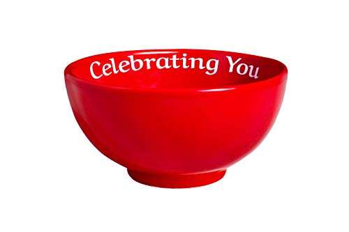 Celebrating You Red Bowl, Special Today, Gift Boxed, The Bowl that Gives Back