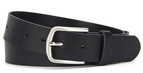 Frentree® Ledergürtel MADE IN GERMANY, Gürtel für Damen und Herren, 3,5 cm breit, Schwarz