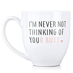 PERFECT VALENTINES DAY GIFT - Enjoy a relaxing morning with your new favorite ceramic coffee cup, which reads I'm Never Not Thinking of Your on BOTH sides. Holds 15 ounces of your favorite coffee, tea or beverage THE GIFT THAT KEEPS ON GIVING - What'...
