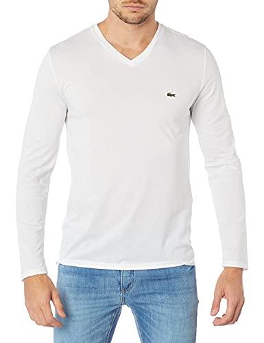 Camiseta Manga Longa Lacoste Branco 4G