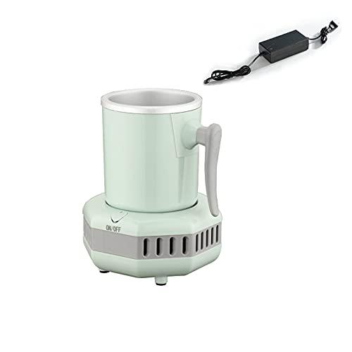 Taza de enfriamiento instantáneo, taza de enfriador de bebidas inteligente de 420 ml con taza de aluminio de grado alimenticio para cerveza, lata y fruta (verde)